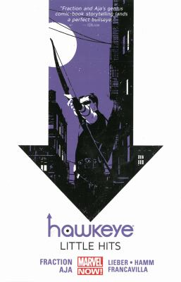 Cover image for Hawkeye. V.2, Little hits (Marvel Now) / Matt Fraction, writer ; David Aja, artist, #6 & #8-11, Francesco Francavilla, art & color, #10 ; Steve Lieber & Jesse Hamm, artists, #7 ; Annie Wu, romance comic cover pages, #8 ; Matt Hollingsworth, color artist, #6-9 & #11 ; Chris Eliopoulos, letterer.