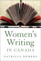 Cover image for Women's Writing In Canada