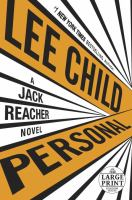 Cover image for Personal [large print] : a Jack Reacher novel / Lee Child.