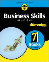 Cover image for Business skills all-in-one / by John A. Tracy, Mary Ann Anderson, Dr. Edward G. Anderson Jr., Dr. Geoffrey Parker, Dawna Jones, Stan Portny, Joel Elad, Natalie Canavor, Ryan Deiss, Russ Henneberry.