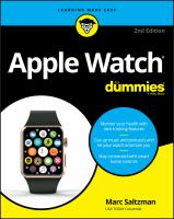 Cover image for Apple Watch / by Marc Saltzman, freelance journalist, author, speaker, and radio and TV personality.