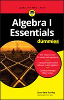 Cover image for Algebra I essentials / by Mary Jane Sterling.