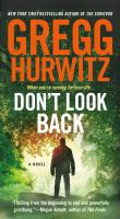 Cover image for Don't look back / Gregg Hurwitz.