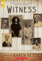Cover image for Witness / Karen Hesse.