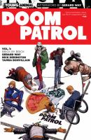 Cover image for Doom Patrol. [1], Brick by brick / Gerard Way, writer ; Nick Derington with Tom Fowler, artists ; Tamra Bonvillain, colorist ; Todd Klein, letterer.