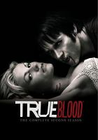 Cover image for True blood. The complete second season [DVD] / HBO Entertainment ; a presentation of Home Box Office ; produced by Mark McNair ; producer, Raelle Tucker ; created by Alan Ball ; Your Face Goes Here Entertainment.