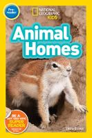 Cover image for Animal homes / Shira Evans.