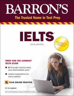 Cover image for Barron's IELTS practice exams / Dr. Lin Lougheed, Teachers College, Columbia University.