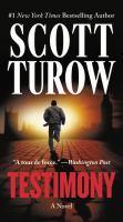 Cover image for Testimony : a novel / Scott Turow.