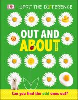 Cover image for Out and about / design and illustration: Sadie Thomas ; written by: Sophia Danielsson-Waters.
