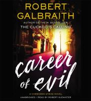 Cover image for Career of evil [compact disc] / Robert Galbraith.