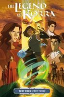 Cover image for The legend of Korra. Turf wars, Part three / written by Michael Dante DiMartino ; layouts by Irene Koh and Paul Reinward ; art by Irene Koh ; colors by Vivian Ng ; lettering by Nate Piekos of Blambot.