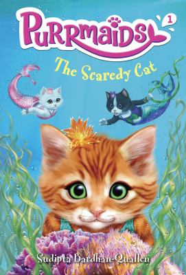 Cover image for The scaredy cat / by Sudipta Bardhan-Quallen ; illustrated by Vivien Wu.