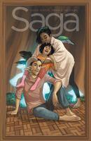 Cover image for Saga. Volume nine / Fiona Staples, artist ; Brian K. Vaughan, writer ; Fonografiks, lettering + design.