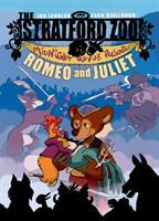 Cover image for The Stratford Zoo Midnight Revue presents : Romeo and Juliet / written by Ian Lendler ; art by Zack Giallongo ; colors by Alisa Harris.