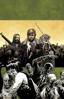Cover image for The walking dead. Volume 19, March to war / Robert Kirkman, creator, writer ; Charlie Adlard, penciler, inker ; Cliff Rathburn, gray tones ; Rus Wooton, letterer.