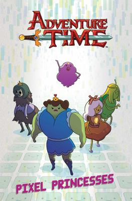 """Cover image for Adventure time. 2, Pixel princesses / created by Pendleton Ward ; written by Danielle Corsetto ; illustrated by Zack Sterling with Tessa Stone, Corey Lewis, Chrystin Garland, Paulina Ganucheau ; inks by Stephanie Hocutt and Aubrey Aiese ; tones by Amanda LaFrenais ; letters by Kel McDonald. """"The mind of Gunter"""" / by Meredith McClaren ; tones by Stephanie LaFrenais."""