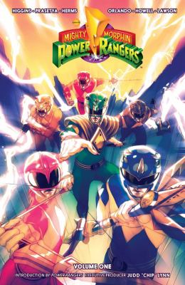Cover image for Mighty Morphin Power Rangers. Volume one / written by Kyle Higgins ; illustrated by Hendry Prasetya ; colors by Matt Herms ; letters by Ed Dukeshire.