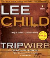 Cover image for Tripwire [compact disc] : a Jack Reacher novel  / Lee Child.