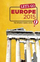 Cover image for Let's go Europe [2015] / researcher writers, Meg Bernhard [and 16 others]