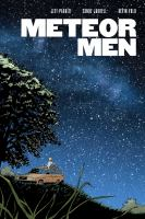 Cover image for Meteor Men / written by Jeff Parker ; illustrated by Sandy Jarrell ; colored by Kevin Volo ; lettered by Crank!