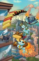 Cover image for Hero cats of Stellar City / written by Kyle Puttkammer ; pencils and colors by Marcus Williams ; inks and polish by Ryan Sellers ; letters by Briana Higgins.