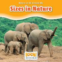 Cover image for Sizes in nature / by Jennifer Marino Walters.