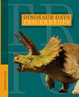 Cover image for Triceratops / Sara Gilbert.