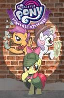 Cover image for My little pony. Ponyville mysteries, Vol. 1 / written by Christina Rice ; art by Agnes Garbowska ; colors by Heather Breckel ; letters by Neil Uyetake and Christa Miesner.