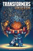 Cover image for Transformers : Unicron / written by John Barber ; art by Alex Milne ; additional art by Sara Pitre-Durocher, Andrew Griffith, Kei Zama ; colors by Sebastian Cheng, David Garcia Cruz ; additional colors by Joana Lafuente ; letters by Tom B. Long ; series edits by David Mariotte.