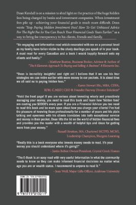 Cover image for Stop paying hidden investment fees! : how to get unbiased advice for the right fee so you can reach your financial goals years earlier / Dean C. Kendall.