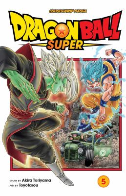 Cover image for Dragon Ball super. 5, The decisive battle! Farewell, trunks! / story by Akira Toriyama ; art by Toyotarou ; translation, Toshiazu Aizawa, Christine Dashiell, and Caleb Cook ; lettering, Paolo Gattone and Chiara Antonell.