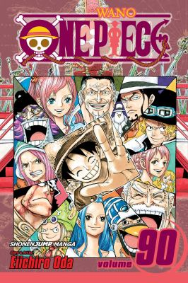 Cover image for One piece. Vol. 90, Sacred Marijoa / story and art by Eiichiro Oda ; translation/Stephen Paul ; touch-up art & lettering, Vanessa Satone.