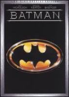 Cover image for Batman [DVD] / Warner Bros. presents a Guber-Peters Company production ; a Tim Burton film ; screenplay by Sam Hamm and Warren Skaaren ; story by Sam Hamm ; produced by Jon Peters and Peter Guber ; directed by Tim Burton.