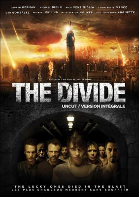 Cover image for The divide [DVD] / Anchor Bay Films presents a Preffered Content, Instinctive Film, Julijette Inc. production in association with BR Group and Ink Connection ; produced by Ross M. Dinerstein [and others] ; written by Karl Mueller and Eron Sheean ; directed by Xavier Gens.