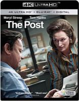 Cover image for The Post [blu-ray] / Twentieth Century Fox, Dreamworks Pictures, and Reliance Entertainment present ; in association with TSG Entertainment ; directed by Steven Spielberg ; written by Liz Hannah and Josh SInger ; produced by Amy Pascal, Steven Spielberg, Kristie Macosko Krieger ; an Amblin Entertainment/Pascal Pictures and Star Thrower Entertainment production.