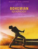Cover image for Bohemian rhapsody [blu-ray] / Twentieth Century Fox and Regency Enterprises present ; a GK Films production ; co-producer, Richard Hewitt ; produced by Graham King, Jim Beach ; story by Anthony McCarten and Peter Morgan ; screenplay by Anthony McCarten ; directed by Bryan Singer.