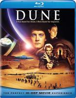 Cover image for Dune [blu-ray] / Dino de Laurentiis presents a David Lynch film ; produced by Raffaella de Laurentiis ; screenplay by David Lynch ; directed by David Lynch.