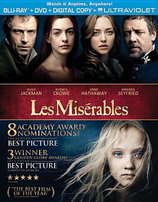 Cover image for Les mis©♭rables [blu-ray] / Universal Pictures presents ; in association with Relativity Media ; a Working Title films/Cameron Mackintosh production ; produced by Tim Bevan [and others] ; directed by Tom Hooper.