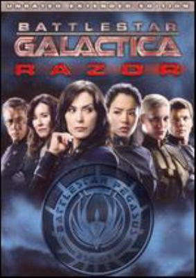 Cover image for Battlestar Galactica. Razor [DVD] / Universal ; producer, Ron E. French, Michael Rymer ; written by Michael Taylor ; directed by F©♭lix Alcal©Ł ; R & D TV.