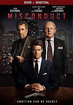 Cover image for Misconduct [DVD] / Lionsgate Premiere and Grindstone Entertainment Group present ; in association with Film Bridge International ; a Mike and Marty Production ; produced by Ellen Wander ; written by Adam Mason & Simon Boyes ; directed by Shintaro Shimosawa.