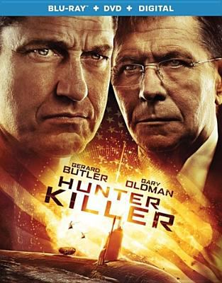 Cover image for Hunter killer [blu-ray] / Summit Premiere and Millennium Media present ; an Original Film production and a Relativity Media, Millennium Media, G-Base production ; in association with Summit Premiere ; directed by Donovan Marsh ; screenplay by Arne L. Schmidt and Jamie Moss ; produced by Neal H. Mortiz and Toby Jaffe, Gerard Butler and Alan Siegel, Tucker Tooley, Mark Gill, John Thompson, Matt O'Toole, Les Weldon.