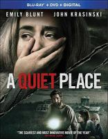 Cover image for A quiet place [blu-ray] / Paramount Pictures presents ; in association with Michael Bay ; a Platinum Dunes production ; produced by Michael Bay, Andrew Form, Brad Fuller ; screenplay by Bryan Woods & Scott Beck and John Krasinski ; story by Bryan Woods & Scott Beck ; directed by John Krasinski.