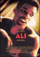 Cover image for Ali / Columbia Pictures presents, in association with Initial Entertainment Group ; a Peters Entertainment, Forward Pass production, in association with Lee Caplin, Picture Entertainment Corporation and Overbrook Films ; produced by Jon Peters, James Lassiter, Paul Ardaji, Michael Mann ; story, Gregory Allen Howard ; screenplay, Stephen J. Rivele, Christopher Wilkinson, Eric Roth & Michael Mann ; director, Michael Mann.