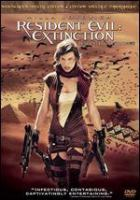 Cover image for Resident evil. Extinction [DVD] / Screen Gems/Davis Films/Constantin Film present a Constantin Film/Davis Film/Impact Pictures production ; produced by Paul W.S. Anderson, Jeremy Bolt, Robert Kulzer, Samuel Hadida, Bernd Eichinger ; written by Paul W.S. Anderson ; directed by Russell Mulcahy.