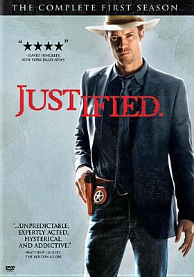 Cover image for Justified. The complete first season [DVD] / produced by Don Kurt ; developed for television by Graham Yost ; Rooney McP Productions, Timberman/Beverly Productions, Nemo Films, FX Productions, Sony Pictures Television.