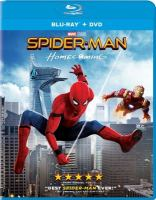 Cover image for Spider-man. Homecoming [blu-ray] / Columbia Pictures presents a Marvel Studios/Pascal Pictures production ; produced by Kevin Feige, Amy Pascal ; screenplay by Jonathan Goldstein & John Francis Daley and Jon Watts & Christopher Ford and Chris McKenna & Erik Sommers ; screen story by Jonathan Goldstein & John Francis Daley ; directed by Jon Watts.
