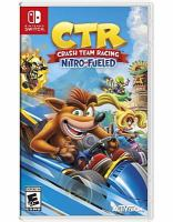 Cover image for CTR [video game] : Crash team racing : nitro fueled / Activision.