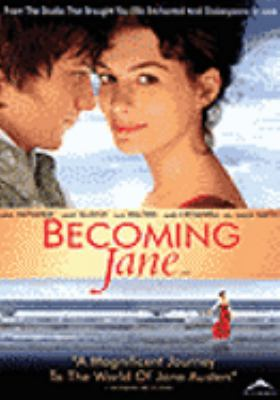 Cover image for Becoming Jane [DVD] / Miramax Films, Hanway, UK Film Council and Bord Scannán na hÉireann/The Irish Film Board present in association with 2 Entertain and BBC Films, an Ecosse Films production in association with Blueprint Pictures, produced with Scion Films ; written by Sarah Williams and Kevin Hood ; producers, Graham Broadbent, Robert Bernstein, Douglas Rae ; director, Julian Jarrold.