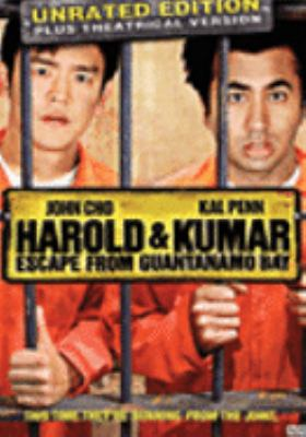 Cover image for Harold & Kumar escape from Guantanamo Bay [DVD] / an Alliance Films release ; New Line Cinema presents in assoication with Mandate Pictures ; a Kingsgate Films production ; produced by Nathan Kahane, Greg Shapiro ; written by John Hurwitz & Hayden Schlossberg ; directed by Jon Hurwitz, Hayden Schlossberg.